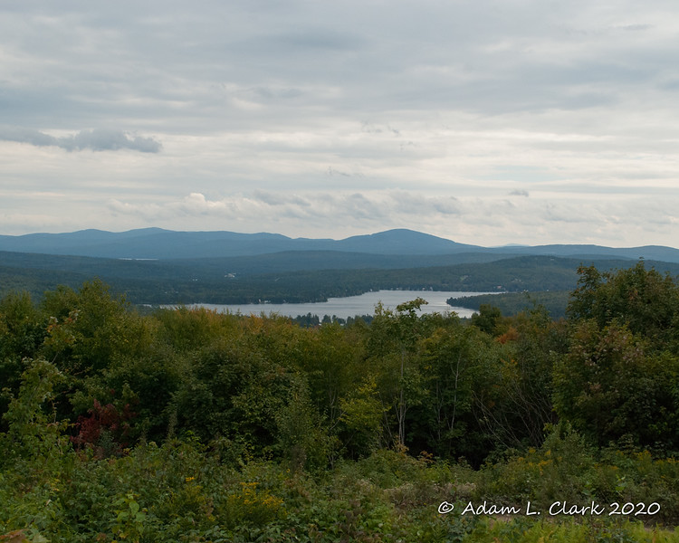 9-7-20<br> The view of Back Lake from Shatney Mtn in Pittsburg, NH