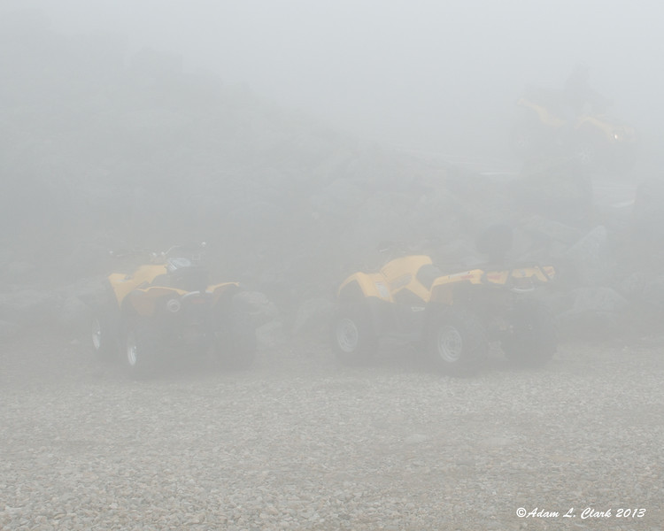 6-23-13<br /> In the parking lot on the top of Mt. Washington Auto.  Hardly even able to see our machines