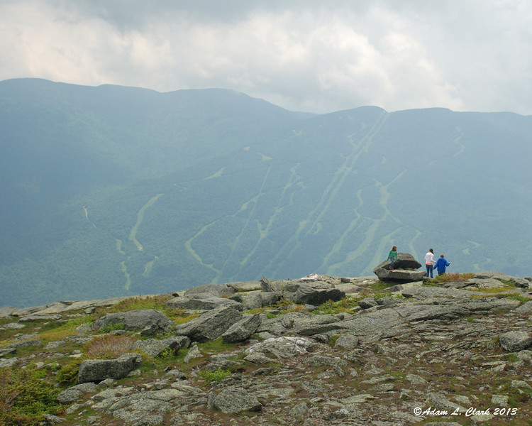 6-23-13<br /> Heading back down the Mt. Washington Auto Road at the Cragway Turn.  Wildcat Mtn is seen across the valley