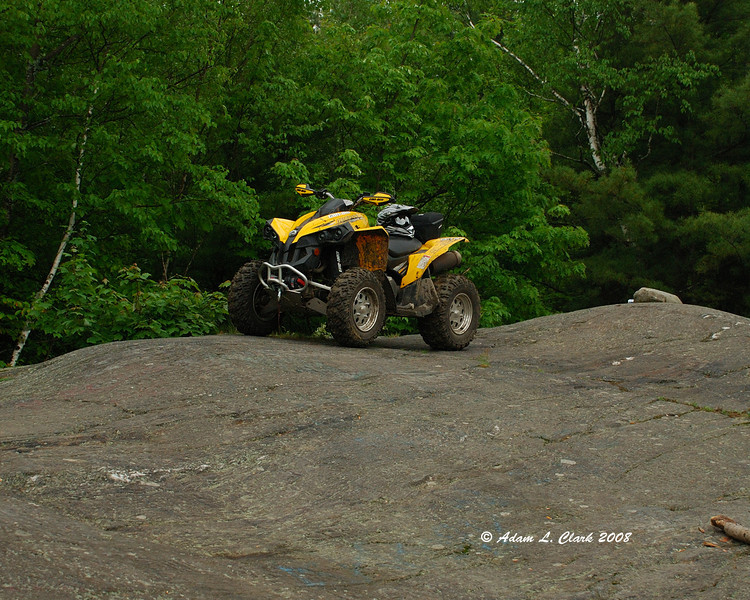 6-4-08<br /> My ATV at the top of the ski area