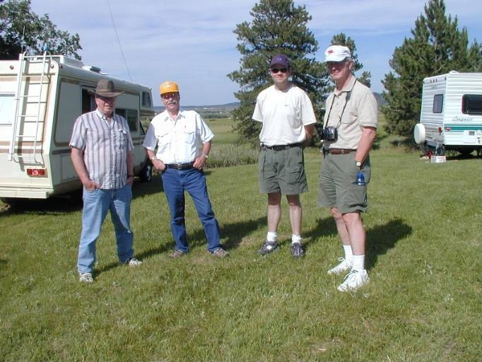 Left-to-right:  Arne, George, Ryan, and Larry, during Field Day 2007.