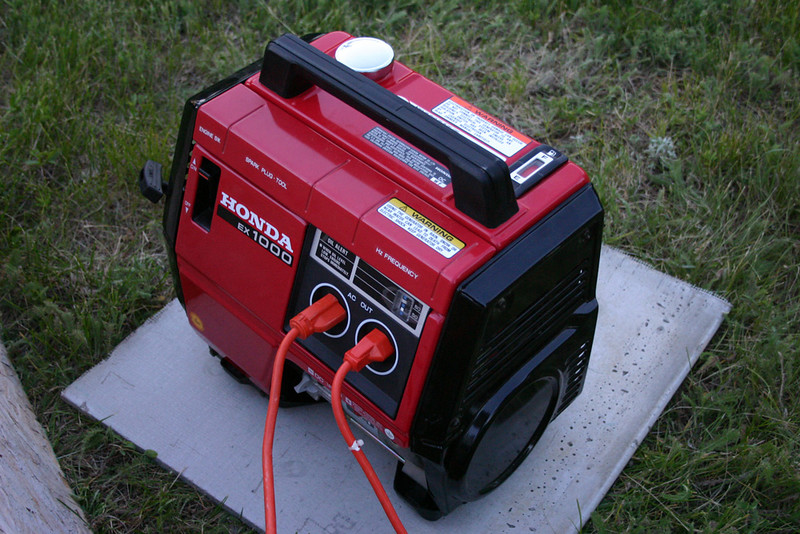 Don's Honda 1000 portable generator carried the lion's share of the load in supplying transmitter power.
