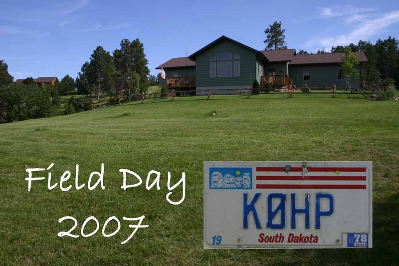 It's hard to imagine a nicer setting for Field Day than Don Matthesen's location near Spearfish.
