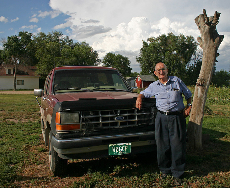 We visited recently (8/6/09) with friend and long-time ham operator, Frank Allen.  Retired from his 2-way radio repair business, Frank has lived in Padroni, Colorado -- for many years.  We spent considerable time chatting about Frank's career in broadcasting, which took him to stations in Illinois, Wyoming, Colorado, and Nebraska.  I met him at KCSR in Chadron.<br /> <br /> He and his wife, Marlene, acquired quite a bit of land in Padroni, accommodating a variety of antenna configurations.  Marlene contracted West Nile virus and died in 2006.<br /> <br /> Frank (WØGGP) was a ham radio mentor for me.  When I got my license in 1960, I immediately showed it to him.  Without hesitation -- he assigned an unflattering phonetic for the new call --  WNØBDN. I won't tell!