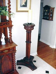 """Entry Foyer - English carved oak First World War memorial pedestal with this brief but poignant inscription around the sides of the top surface: """"In memoriam the men of this church 1914-1918"""""""