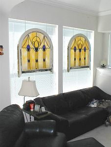 Sitting room - Early 20th century church windows