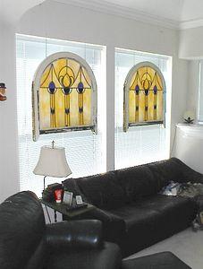 Sitting room - Early 20th century church windows