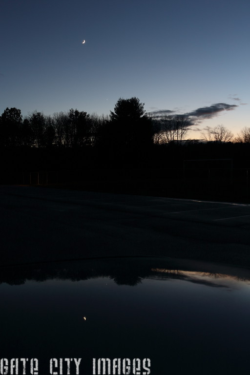 IMG_7901 Moon, Venus by MD Field, car reflection