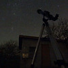Dacha - scope viewing to east toward Melotte 20 in Perseus & Double cluster h Persei