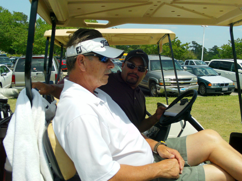 Ken Rhoades and Steve Angelo......They both teamed up with Jim and I for our foursome....