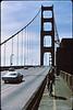 3*Sun, Mar 28, 1971<br /> People: 2 cyclists<br /> Subject: bike path<br /> Place: Golden Gate Bridge<br /> Activity: bike<br /> Comments: