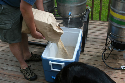 Deck, Dog...  a completely sanitary brewing environment.