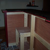 First coat of paint done, here is the inside of the bar