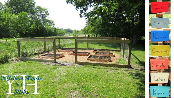 Finished with 1x6s around the top and bottom. Finally done! Taylor and I made the signs. I'll be building the gate this week. For now we just have extra fencing infront of the entrance to keep the deer out. It's a little over 4ft tall or just about as tall as my sister.