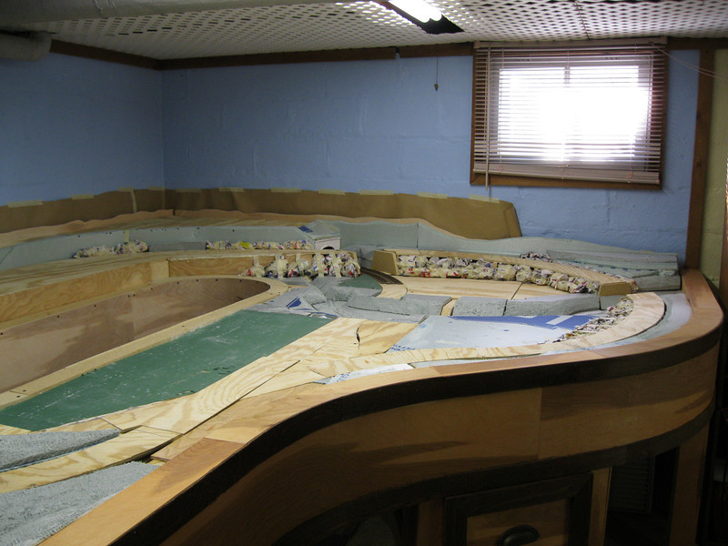 Most of Sept.. was spent building the table, as I wanted that completely done before I started the track layout.