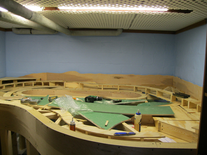 Started to renovate the Model Railroad in Sept.. 2010