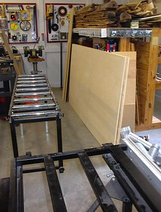 You begin with two 4' by 8' sheets of mdf or plywood. I chose Baltic birch veneer plywood becasue my friend Paul and I built his Hammer Dynamics enclosures from this material, and the plywood is very attractive with just a coat of varnish. I had built a pair of pipes before using Radio Shack drivers and mdf, which are less expensive, but they didn't look or sound very good so I gave them away.