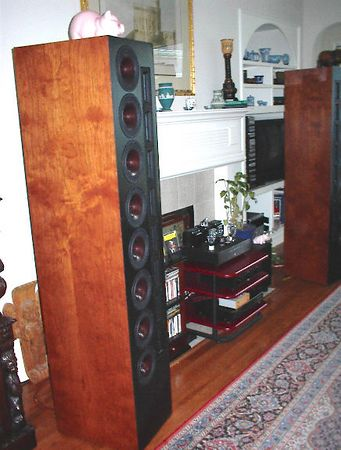 The completed speakers