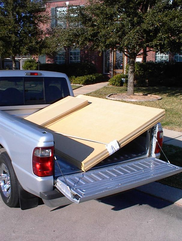 "When the drivers arrive it's time to go out and buy some mdf. This project requires three 3/4"" panels and one 1"" panel (for the baffles). It's best to have the lumber yard crosscut them about two inches longer than you will need; mdf is very heavy and this makes them much easier to carry."