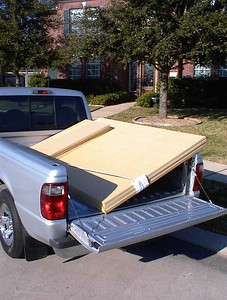 """When the drivers arrive it's time to go out and buy some mdf. This project requires three 3/4"""" panels and one 1"""" panel (for the baffles). It's best to have the lumber yard crosscut them about two inches longer than you will need; mdf is very heavy and this makes them much easier to carry."""