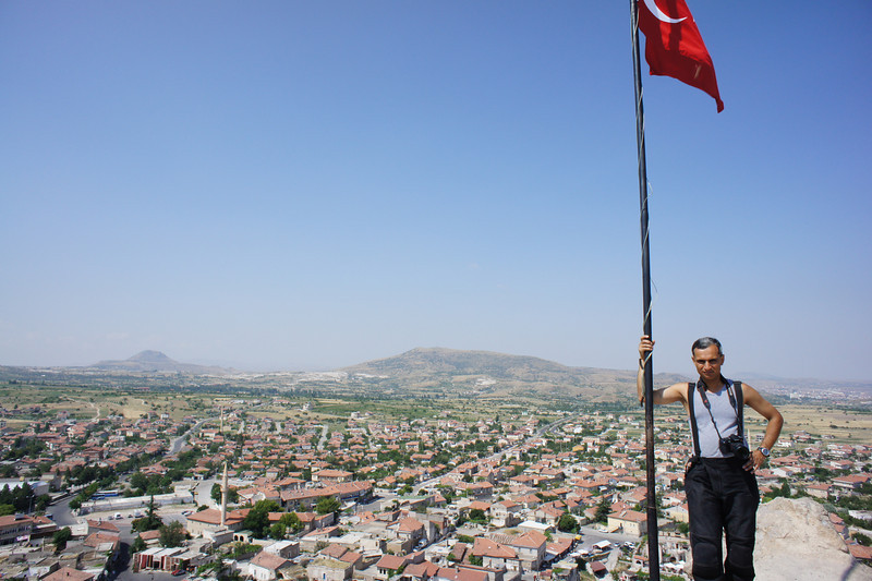 At the top of Uçhisar Hill and Castle
