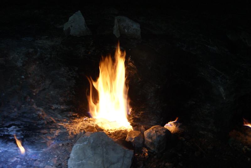 The fires of Yanar, aka Chimaera, near Olympos