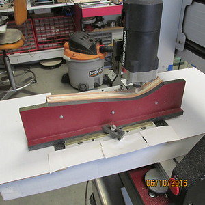 Bottom of rifle being machined.