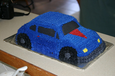 Elijah's car - Vanilla cake, all butter cream icing