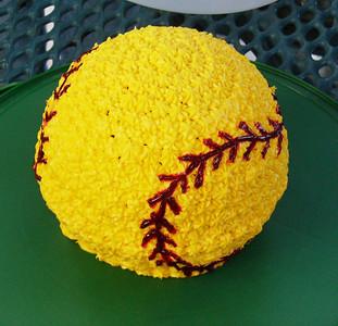 3D Softball cake.