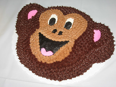 Monkey cake - chocolate cake, chocolate buttercream frosting