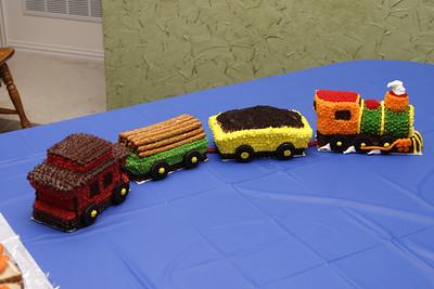 Elijah's Train Cake