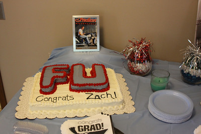 Graduation cake - heading to Friends University (Kansas).  Yes, it is a real school and Zach really wanted the cake with the school initials (for some reason the school chooses not to use them on any items, go figure!).
