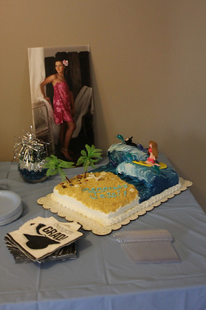 Jessie's graduation cake.  She's a beach girl and wanted her cake to be to have a surfer.