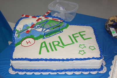 AirLife Helicopter cake.