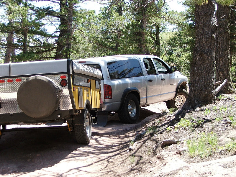 2005: Going south (in) on Medano Pass 4WD trail towards Great Sand Dunes National Park and Preserve.