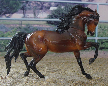 Chaney Vintage style Arabian Stallion CMG earthenware by AA