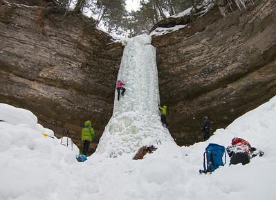 Ice Climbing, Munising, MI 2014