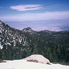 My Photos of Cornell Peak earlier on the way up to Mt San Jacinto March 2004. Palm Springs and the desert down almost 10,000 ft below in the far background!