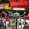 The upgrade wiring harness installed in the amp.