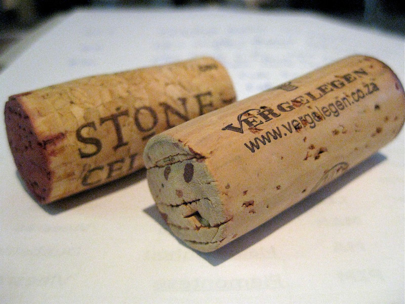 quality of a cork, the front is much nicer than the rear
