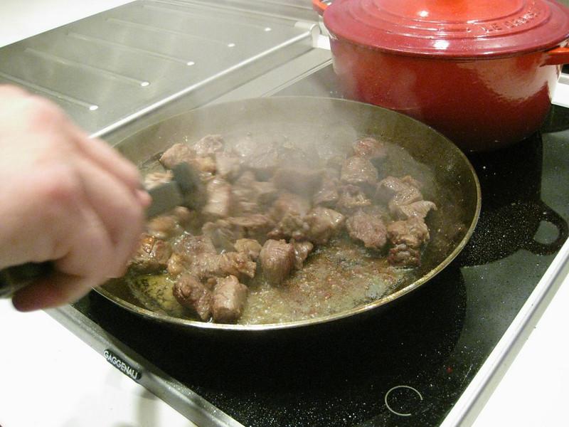 making the Boeuf Bourgignon
