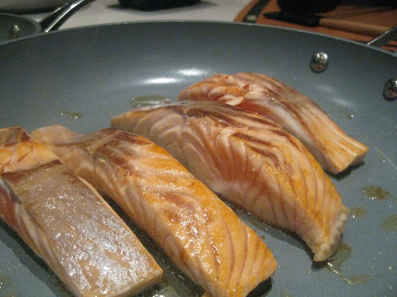 Perfect salmon steaks