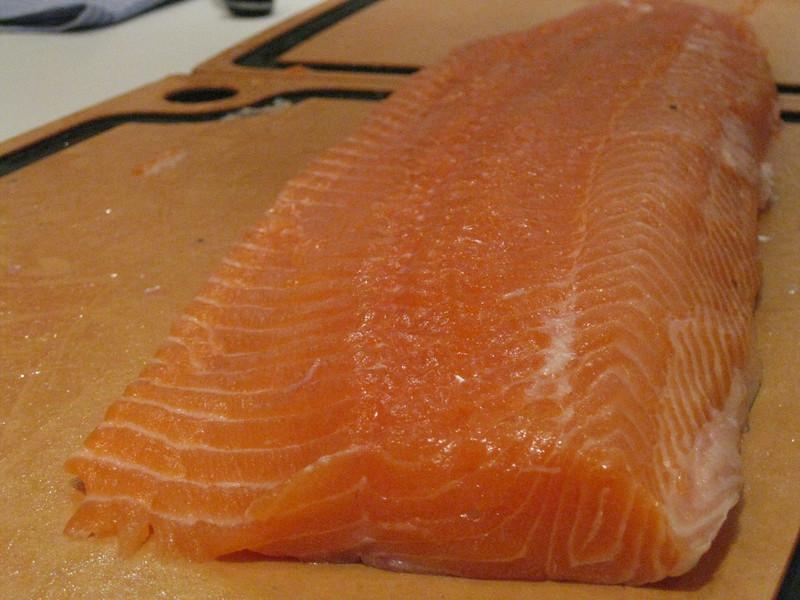 fresh salmon filêt