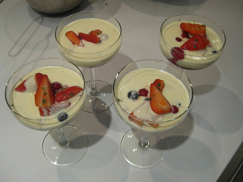 fruit soup served in a coupe