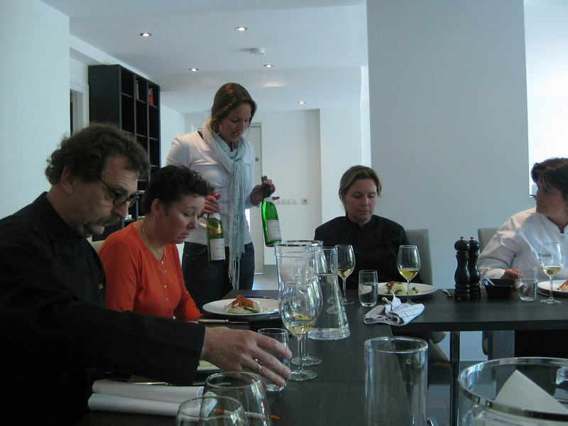 bianca presenting the wines