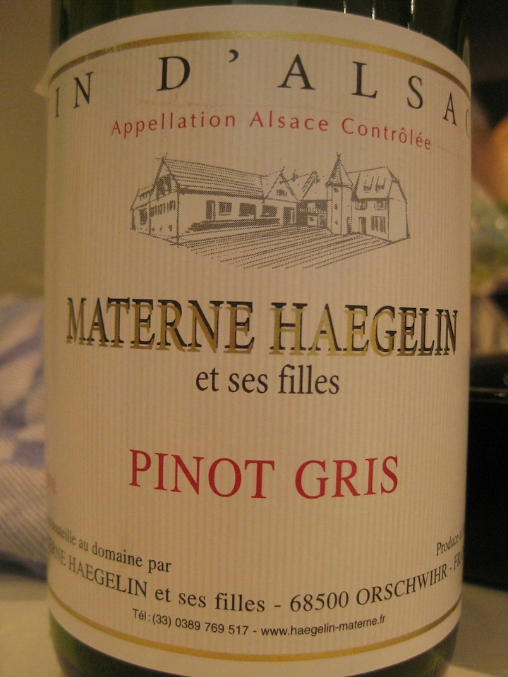 Materne Haegelin, with a pinot gris