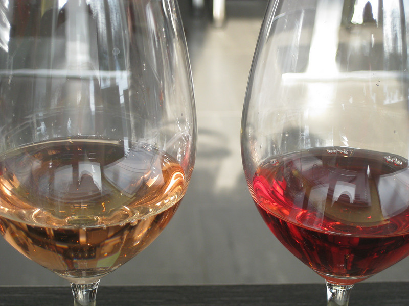 two kinds of rosé wine