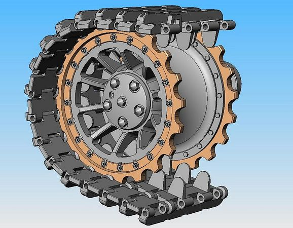 Detailed Drive Sprockets