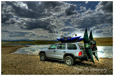 My fishing rig at Four Horns Lake.