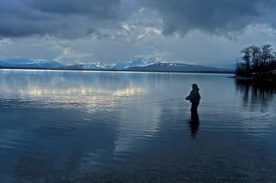 Jim Bullen stillwater flyfishing at Duck lake.